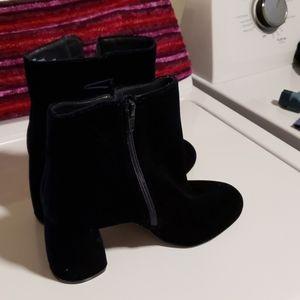 Nine west blue velvet boots